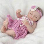 Bebé Doll Ojos cerrados de Silicona Suave - Se puede Bañar en Agua